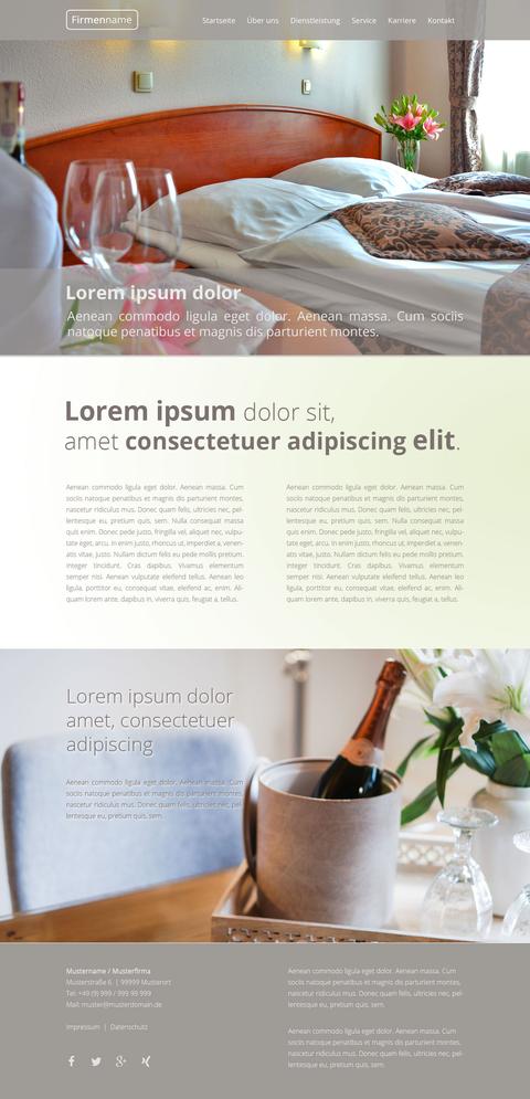 Homepagevorlage Ferienwohnung, Hotel Website Vorlage