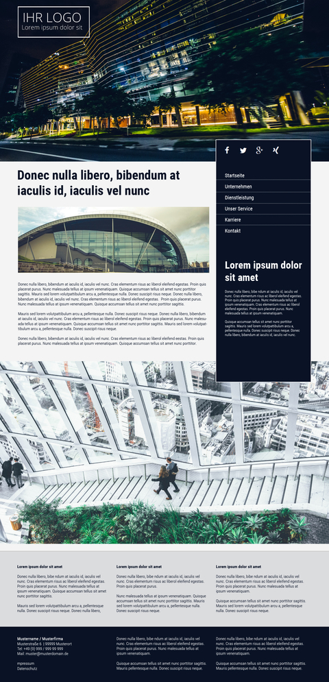 Architekten Homepagevorlage / Responsive Homepage