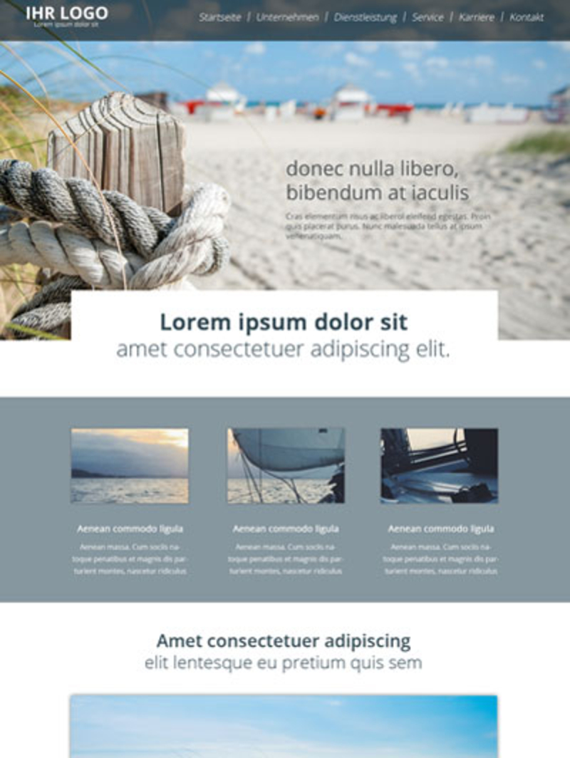 Tourismus Homepage Vorlage | Urlaubsregion am Meer