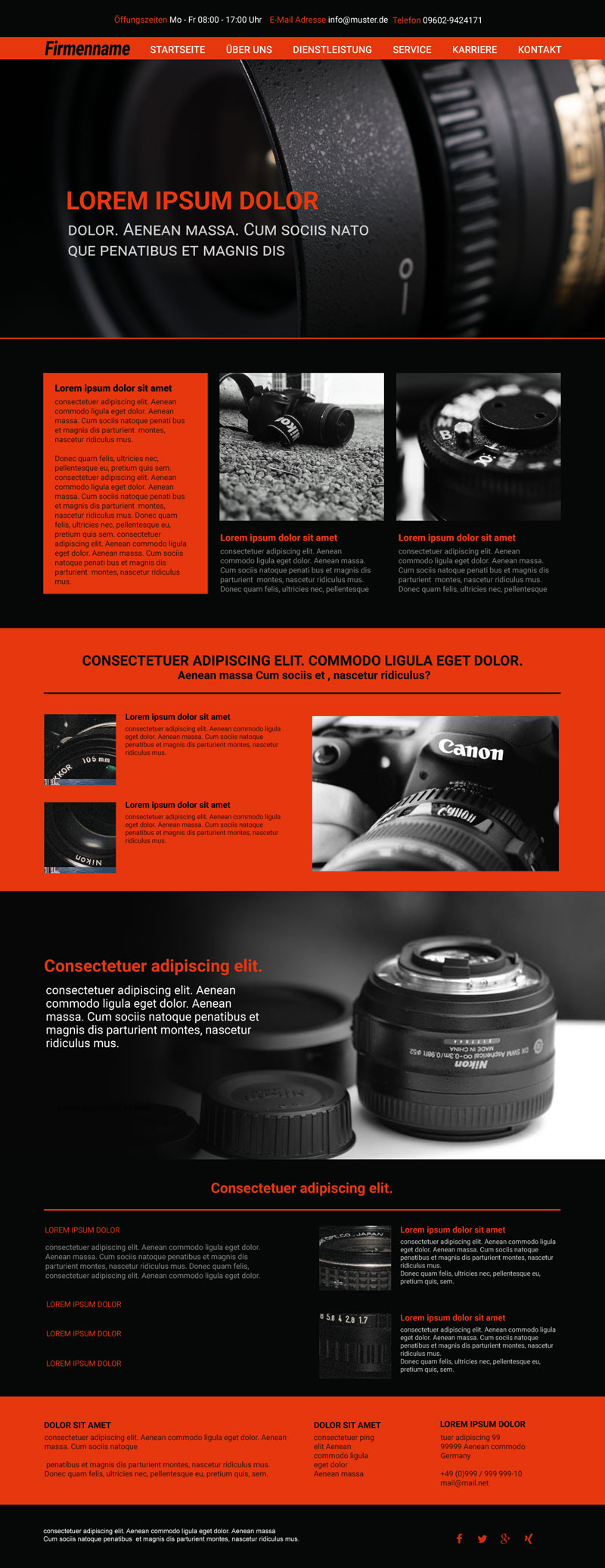 Responsive Template Typo3 - Homepage Vorlage #3527