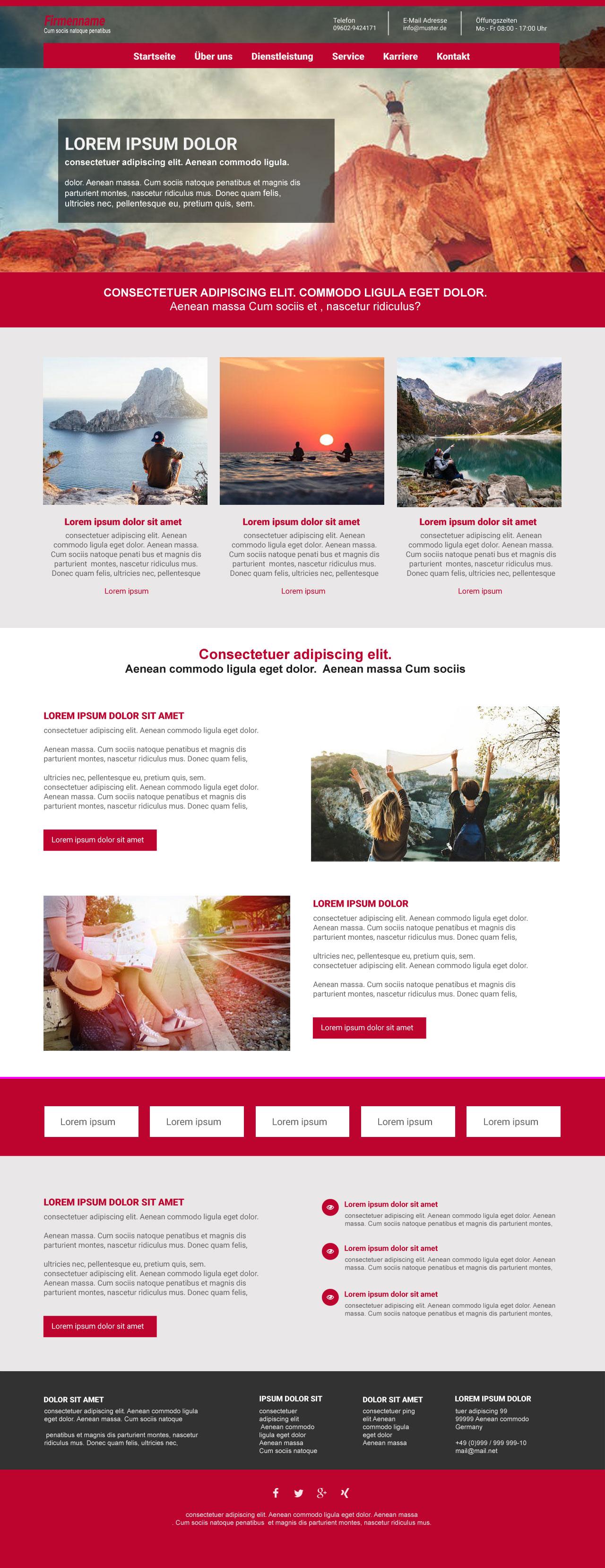 Responsive Homepage Theme für Typo3 / Vorlage #3523
