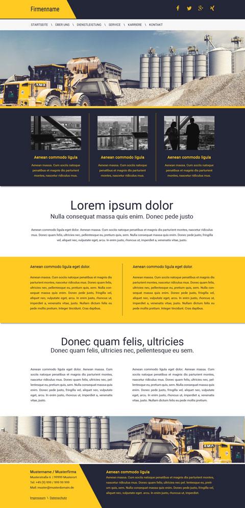 Bauunternehmen Website Vorlage / Homepage für Baufirmen