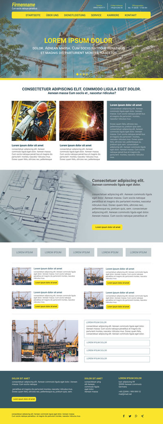 Typo3 Template Responsive Homepage Theme